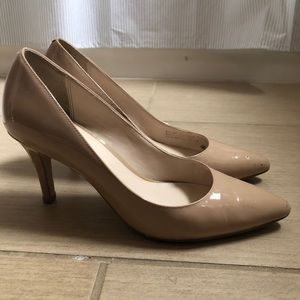 Cole Haan patent leather heels, nude, size 7